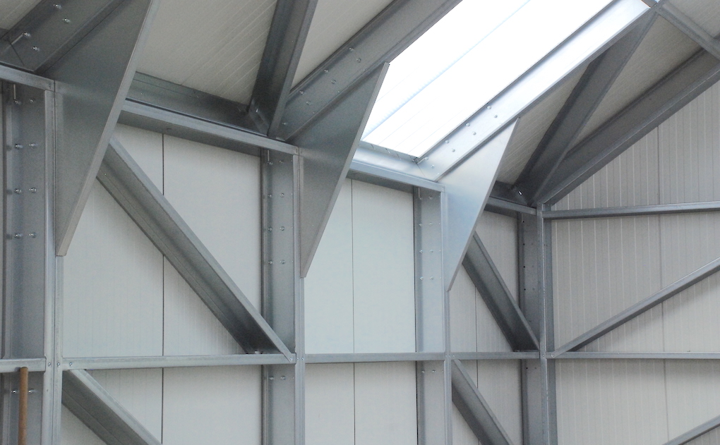 Lichtplaten Finish Building loods